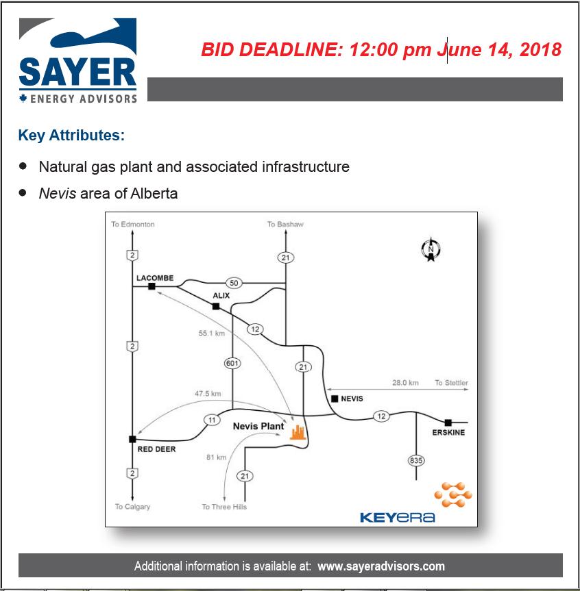 Keyera Partnership Infrastructure Divestiture Daily Oil Bulletin